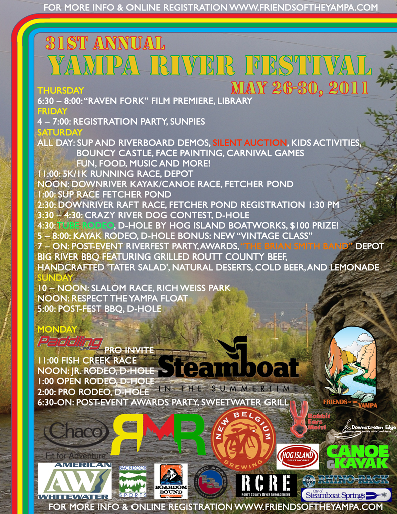 Yampa River Festival - 2011 event poster